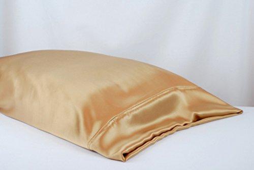 MAXFEEL 1pc 100% Mulberry Silk Pillowcase Housewife Pillowcases Pocket Pillow Sham Soild Multicolor Sham 3sizes King Queen Standard (King, Champagne)