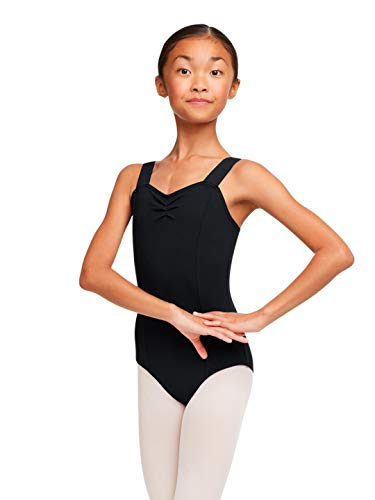 Capezio Girls Wide Strap Leotard (TC0053C) -BLACK -XL