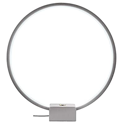 Brightech - Circle LED USB Table & Desk Lamp - Bright Orb of Light with Built-in Dimmer Brings Sci-Fi Ambiance to Contemporary Spaces - USB Port for Charging iPhones -12 Watts