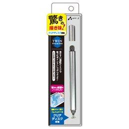 【まとめ 5セット】 エアージェイ 透明ディスク&メッシュトップ ツインタッチペン SL ATP-DISKSL   B07KNV4FD3