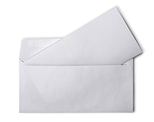 "Envelopes No 10 Self Sealing (Minel Standard White No. 10 Self Sealing Peel N' Seal Envelopes, 4 1/8"" X 9 1/2"" 3 Pack - 150 Envelopes)"