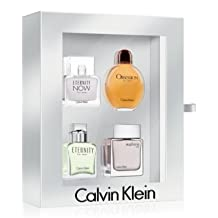 CALVIN KLEIN VARIETY by Calvin Klein Gift Set for MEN: 4 PIECE MEN'S MINI VARIETY WITH ETERNITY, EUPHORIA, ETERNITY NOW & OBSESSION - ALL ARE 15 ml Each