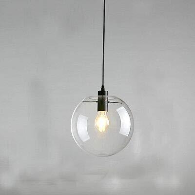 FidgetGear E27 Vintage LED Pendant Light Ceiling Lamp Transparent Glass Chandelier by FidgetGear (Image #1)