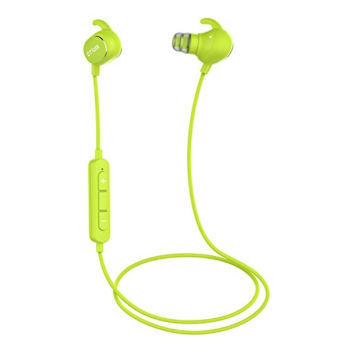 Otium Bluetooth Headphones Lightweight Wireless In-ear Earbuds Quick Charge Sweatproof Line Control - Green