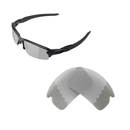 Walleva Replacement Lenses For Oakley Flak 2.0 Sunglasses - Multiple options available (Transition/Photochromic - ()