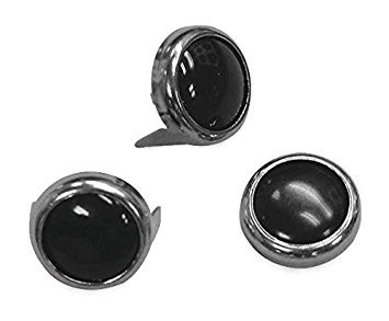 Mustang Black Pearl Center Chrome Studs 78089