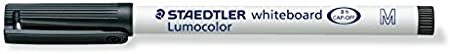 Staedtler 301-9 Lumocolor Whiteboardstift M-Spitze Circa 1.0 mm 5er Boardmarker + L/öscher