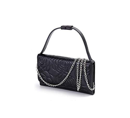 Del Hangbag De Casual Mensajero Ir Black Mujer Compras Bolso Cuero Flores Moda Yt1wqnnp8a
