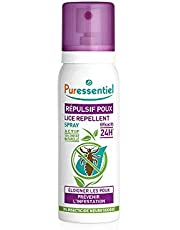Puressentiel Lice Repellent Spray 75 ml - Head lice repellent - 24H effective protection - 100% natural origin, no neurotoxic repellent, non aerosol