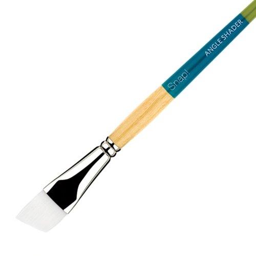 Princeton Snap Brushes 3/4 in. white taklon angle shader (Brush Shader Taklon)
