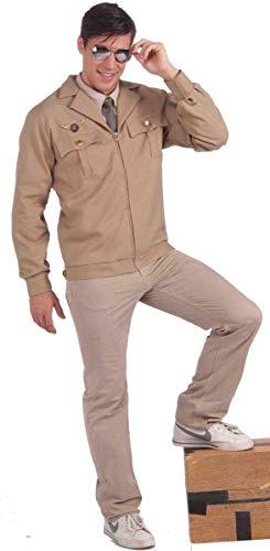 Forum Novelties Men's Fighter Pilot Costume Jacket, Brown, X-Large
