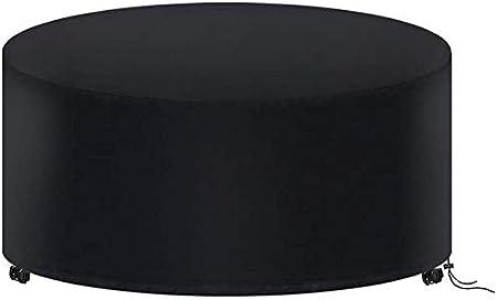 Hydrogarden Muebles de Jardín Funda, Redondo Mesa de Jardín Funda Impermeable Resistente Circular Exterior Patio Mobiliario Refugio Funda Anti-UV Mesa de Comedor Silla Funda Antipolvo