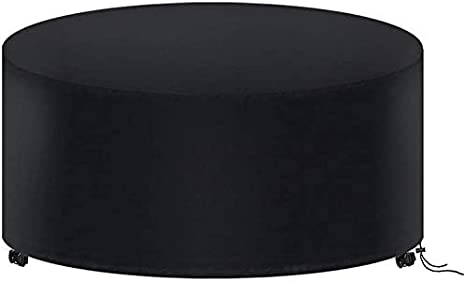 - Nero 128x71//185*110//230*110cm Copertura Tavolo Giardino Impermeabile Telo Protettivo per Tavolo Tondo Anti Vento Sole Neve Tessuto 210D Oxford Copertura per Mobili da Esterno