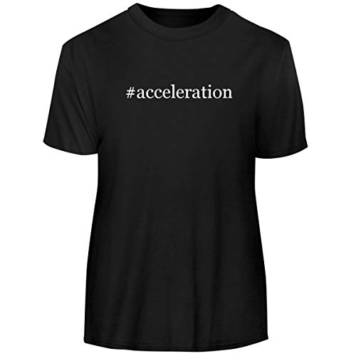 One Legging it Around #Acceleration - Hashtag Men's Funny Soft Adult Tee T-Shirt, Black, Large (Best Hardware For Fsx)