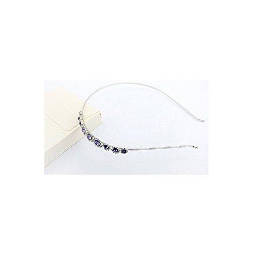 DEPOT TRESOR Headband plaqué or blanc avec Cristal Swarovski Element NEUF Livraison gratuite