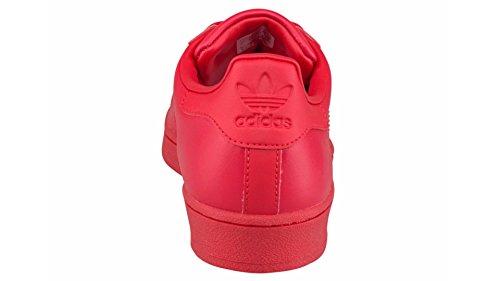 Unbekannt - Zapatillas de Piel para hombre Blanco blanco 40 Red/Red