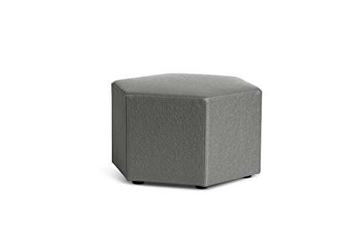 Logic Furniture HONEYCA12 Honeycomb Ottoman, 12'', Carbonite by Logic Furniture