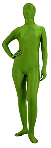 Green Bean Costumes (Seeksmile Unisex Fancy Full Body Lycra Spandex Opaque Zentai Suit (Large, Green Bean))
