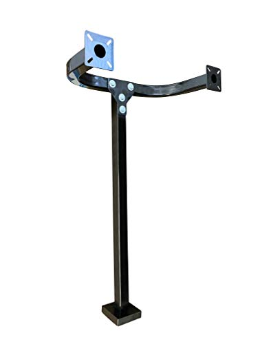 (Eagle EG115 - Universal Double Mounting Post Gate Pedestal Entry Gooseneck Curb Type Keypad Stand 42