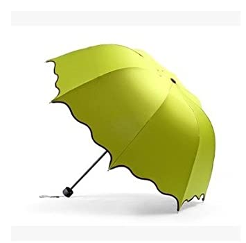 HAN-NMC Sombrilla, crema solar, paraguas,verde fluorescente UV