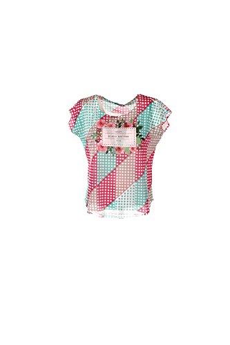 T-shirt Donna Yes-zee L Verde/rosa T244 Y103 Primavera Estate 2017