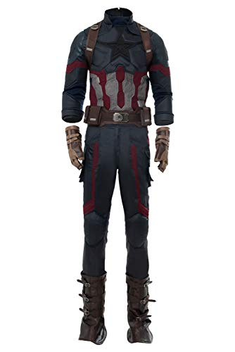 Mutrade Mens Captain Cosplay Costume Halloween Adult Super Outfits,Large -