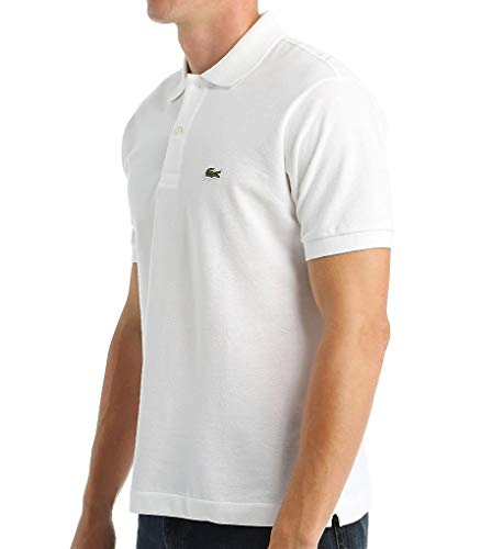 Lacoste Men's Short Sleeve Pique L.12.12 Original Fit Polo Shirt,White, Medium/Eur ()