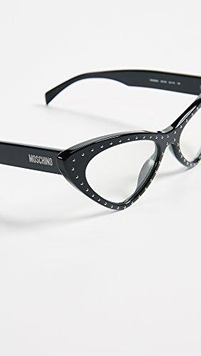 Moschino uva Protection Women s Mos006 Transparent Sunglasses Uvb Black xgqw6Pvrx