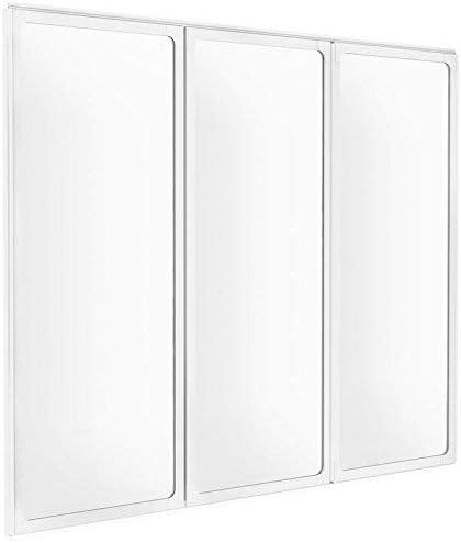 Schulte - Mampara plegable, mampara de ducha reversible, 127 x 120 cm, con 3 paneles giratorios de cristal transparente con perfiles de color blanco: Amazon.es: Bricolaje y herramientas