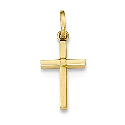 14k Yellow Gold Small Children's Cross Pendant Charm from pf