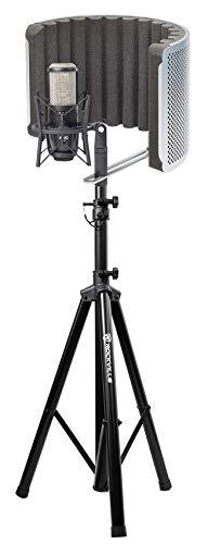 AKG P420 Studio Condenser Recording Microphone+Samson Vocal Booth+Tripod Stand