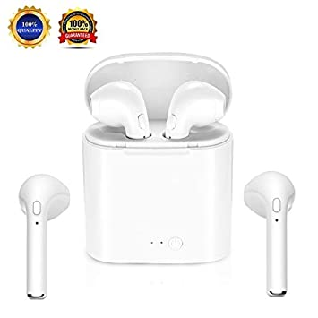Auriculares inalámbricos para Samsung iPhone X 7 7plus 6S 8 9plus Android: Amazon.es: Electrónica