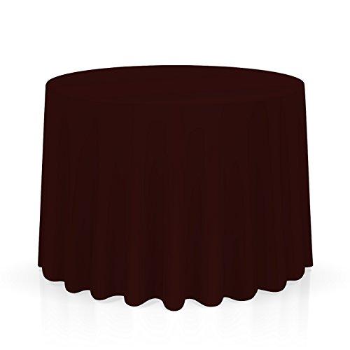Burgundy Elegance Round Tablecloth - Lann's Linens - 120