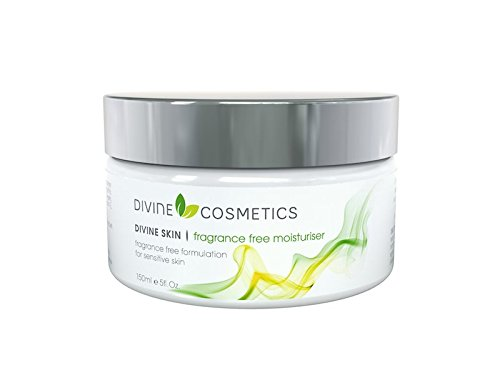 Divine Skin Fragrance Free Moisturiser - 5 fl.oz - Light, Non-greasy Formula For Sensitive Skin or Allergic to Perfumes and Other Fragrances - Easily Absorbed
