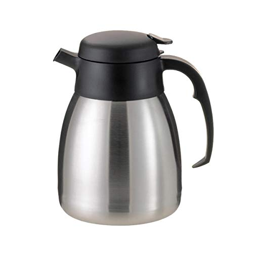 Service Ideas FVPC12 SteelVac Carafe, Vacuum Insulated, 1.2 Liter (40.6 oz.), Brushed Stainless/Black Accents (Pack of 6)