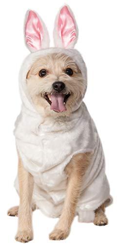 Rubie's Pet Costume, X-Large, Bunny Hoodie, White ()