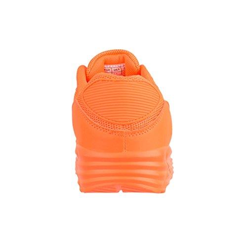 Elara Damen Herren Sneaker | Unisex Sport Laufschuhe | Turnschuhe | Chunkyrayan Orange Durban