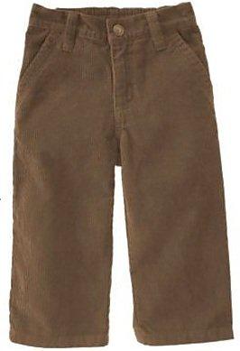 07ebf1e1b2 Amazon.com : Toddler Boy Dark Brown Corduroy Pants Adjustable Waist ...
