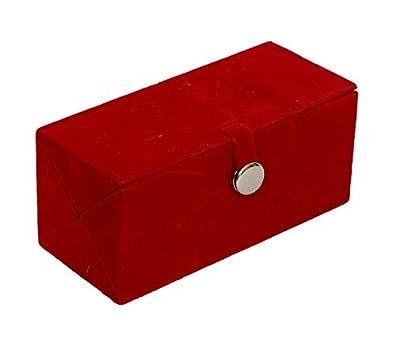 Buy Meenaz Jewellery Velvet Red Earrings Jewellery Box for Women