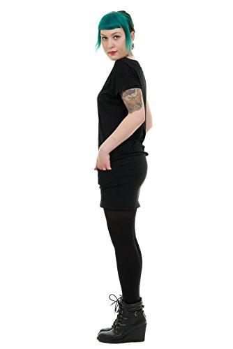 Berlino tasca Pixie prodotta con estate con de corta minigonna e abito Nero maniche pipistrello 3Elfen a qwEI66