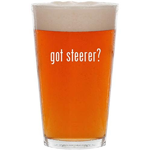 (got steerer? - 16oz All Purpose Pint Beer Glass)