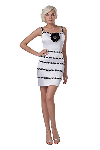 Vogue007 Womens Straps Satin Pongee Formal Dress with Handmade Flowers, ColorCards, 16 by Unknown