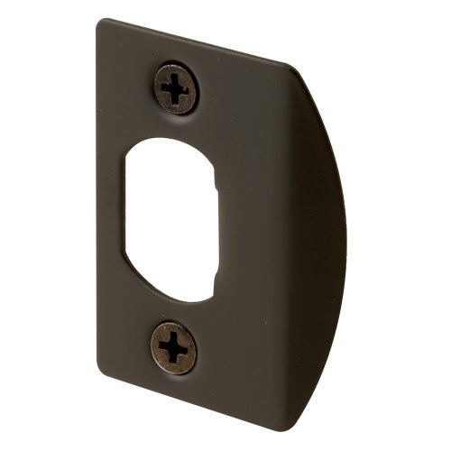 Bronze Standard Doors - Defender Security E 2516 Standard Latch Strike, 1-5/8 in., Steel, Classic Bronze Plated Finish (Pack of 2)