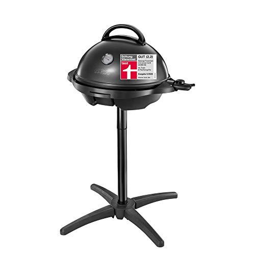 George Foreman Grill 2in1 Elektrogrill: Standgrill & Tischgrill (Innen- & Außennutzung, Balkon & Küche, Ø44,5cm…