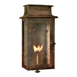 Elk 7941-WP Maryville Outdoor Wall Sconce with Natural Gas Flame, Aged Copper