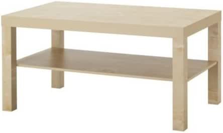 Ikea Mesa de café de Madera de Abedul Lack (90 x 55 cm): Amazon.es ...