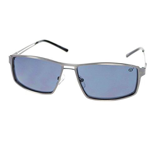 Mens Sharp Shooter Luxury Fashion Narrow Rectangular Metal Dress Sunglasses ()