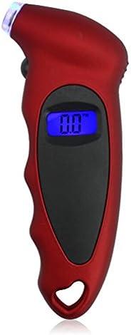 WINOMO Digital Medidor de Pressão de Pneu 150 PSI para Carro Caminhão Bicicleta (Vermelho)