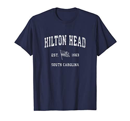 Hilton Head South Carolina SC T-Shirt Vintage US Flag Tee