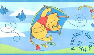 Winnie the Pooh - Kite Wallpaper Border - A Perfect Day for Flying - 6 3/4 inches x 15 feet ()